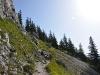 Wanderung auf den Schoberstein - Letztes Stück zum Gipfelkreuz