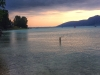 Eine Abendstimmung am See