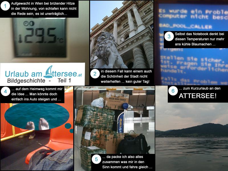 Urlaub am Attersee Bildgeschichte Teil 1