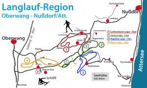 langlaufen attersee karte loipen oberaschau nußdorf (c) Markus Mairinger