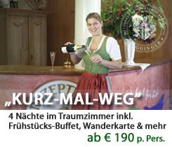 Pauschalangebot im Hotel Ragginger **** Gastlichkeit aus Tradition