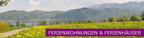 Ferienwohnungen, Ferienhäuser & Appartements am Attersee - Aktuelle Angebote Banner