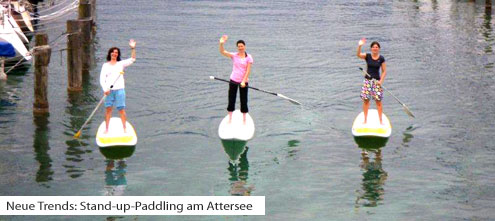 Stand-up-Paddling am Attersee - Neuer Wassersport Trend | (c) naishsupcenter.at