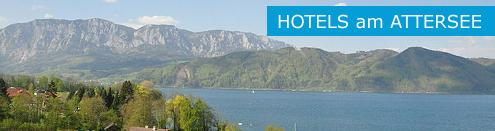 Top Hotels am Attersee in Österreich, Hotelempfehlungen, Hoteltipps Salzkammergut Banner