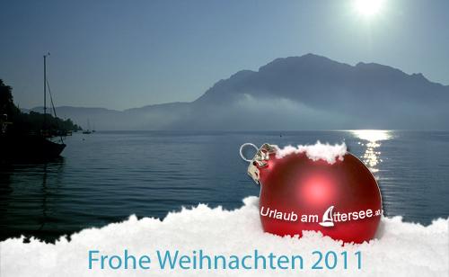 Urlaub am Attersee wünscht Frohe Weihnachten 2011