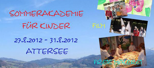 Kinder Sommerakademie am Attersee