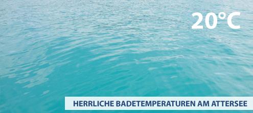 Aktuelle Wassertemperatur am Attersee