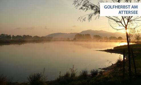 Golfen im Herbst am Attersee